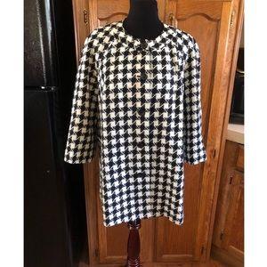 Rafaella Houndstooth Blazer Jacket Size 1X